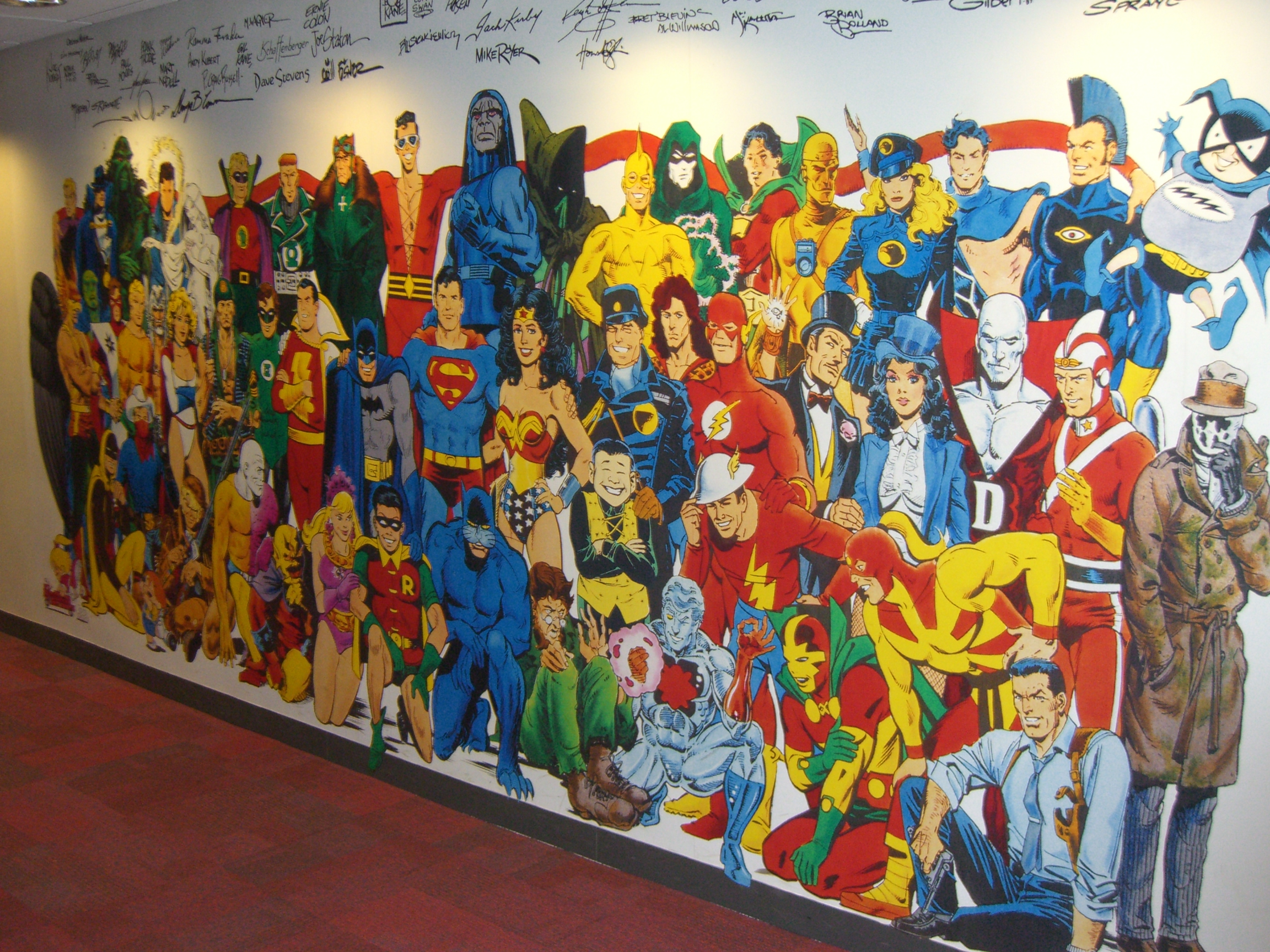 Marvel comics wall mural home design a fanboy in new york part 2 dc comics  amipublicfo